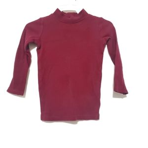 4for$20!! Burgundy fitted ribbed turtleneck size 2